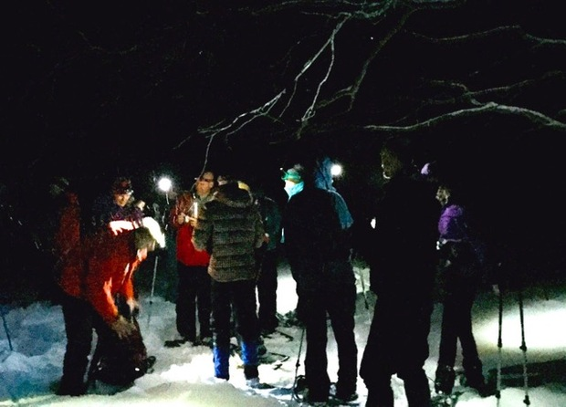 Night Time Snowshoe under a Full Moon