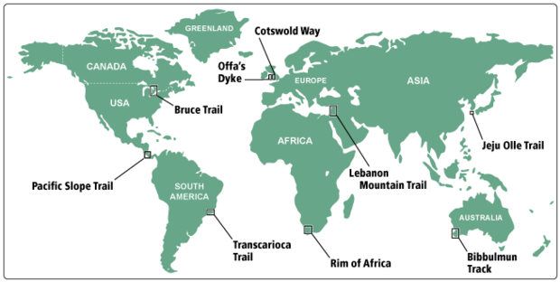 Friendship Trail overview map