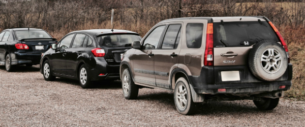Take care that your car is parked safely off the road when using the Bruce Trail
