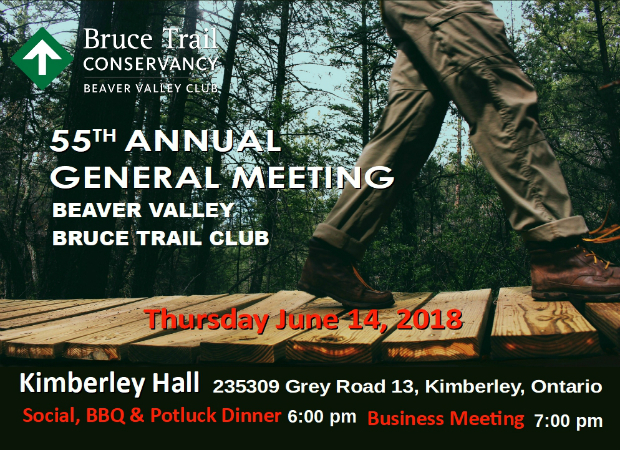 BVBTC Annual General Meeting June 14 2018. Kimberley Hall 235309 Grey Road 13, Kimberley. Social BBQ and potluck dinner 6 pm. Meeting to follow.