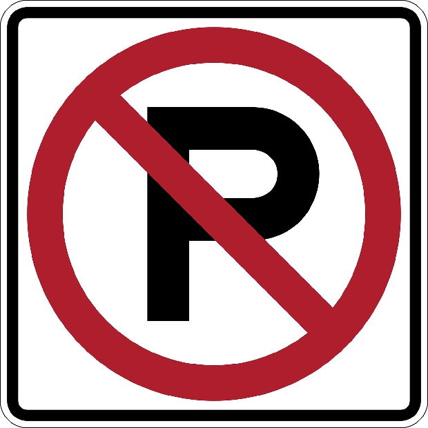 No parking sign graphic