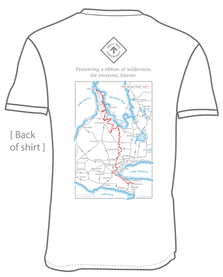 Bruce trail map tshirt white back