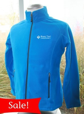 Btc fleece jacket women s cut blue banner