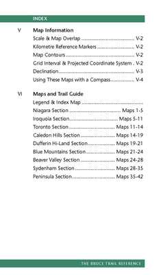 Bruce trail reference ed30 contents pg 2